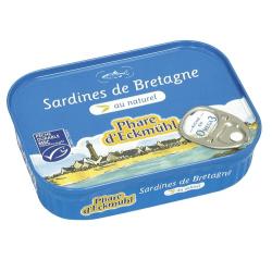 SARDINES AU NATUREL PNE 135G
