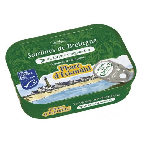 SARDINES AU TARTARE D'ALGUES BIO 135G