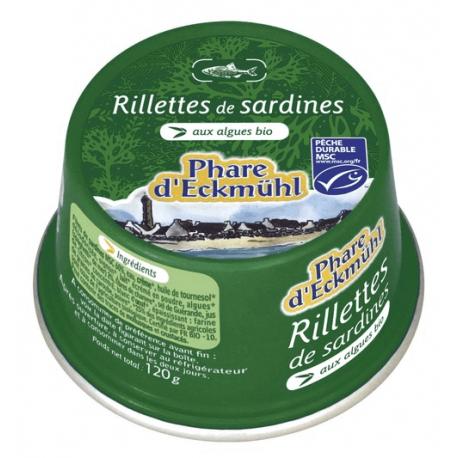 RILLETTES DE SARDINES AUX ALGUES 120G