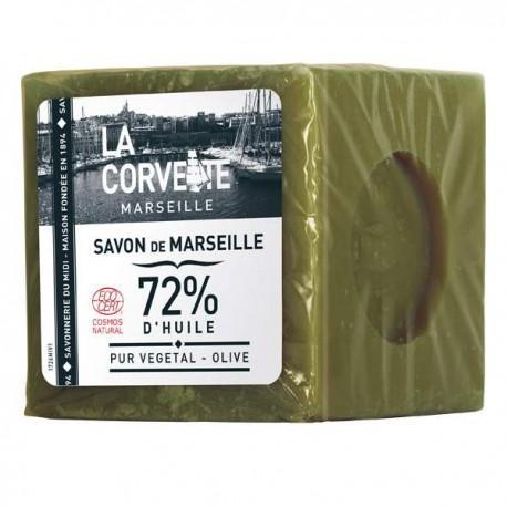 CUBE DE SAVON DE MARSEILLE OLIVE 500G CC