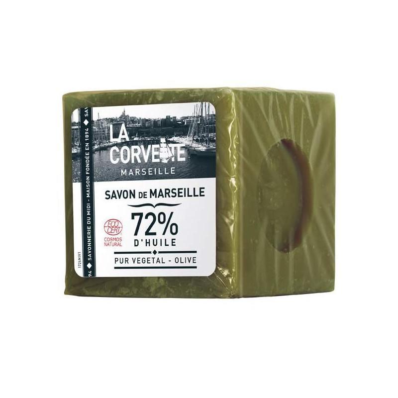 CUBE SAVON MARSEILLE OLIVE 500G