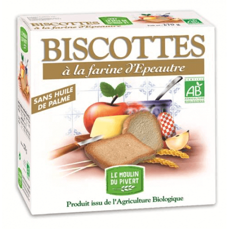 BISCOTTES EPEAUTRE HUILE D'OLIVE 270G