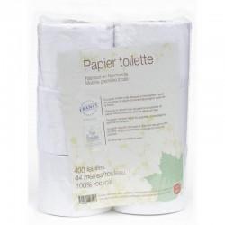 PAPIER TOILETTE BLANC 100% RECYCLE 6 ROULEAUX CC
