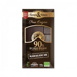 TABLETTE CHOCOLAT NOIR 90% MADAGASCAR