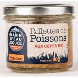RILLETTE DE SAUMON CEPE 90G | LA SABLAISE - POISSONS