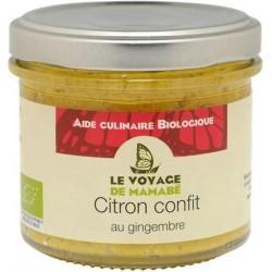 CITRON CONFIT AU GINGEMBRE 105G | VOYAGE DE MAMABE - CONSERVES DE LEGUMES