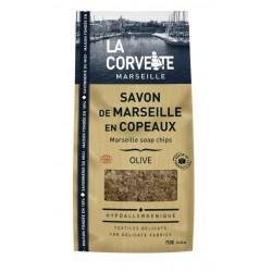 SACHET DE SAVON DE MARSEILLE EN COPEAUX OLIVE 750G