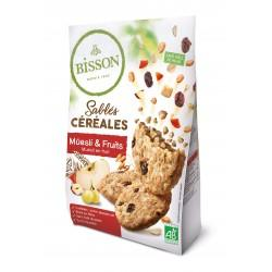 SABLES CEREALES MUESLI ET FRUITS 200G