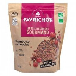 MUESLI CROUSTILLANT FRAMBOISE ET CHOCOLAT 500G | FAVRICHON - CROUSTILLANT