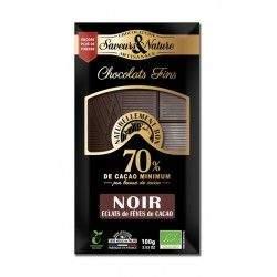CHOCOLAT NOIR 70% FEVES | SAVEURS ET NATURE - NOIR