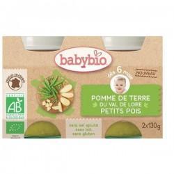 POT PETITS POIS 2X130G | BABYBIO - ALIMENTATION