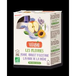 GOURDE POMME ABRICOT LAVANDE DE LA DROME 4X120G