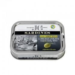 SARDINES SANS ARRETE A HUILE D'OLIVE EXTRA 115G