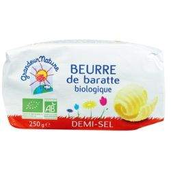 BEURRE DE BARATTE 1/2 SEL 250G