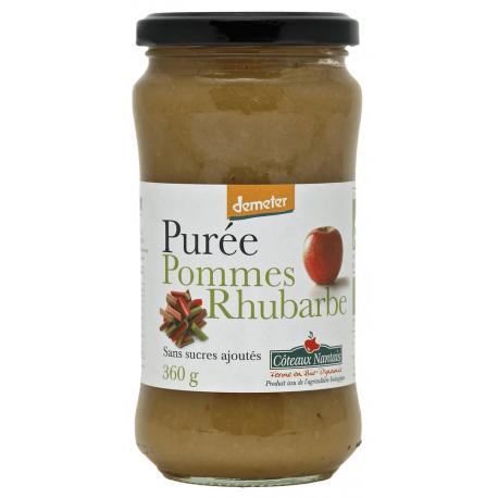 PUREE POMME RHUBARBE SANS SUCRE 360G