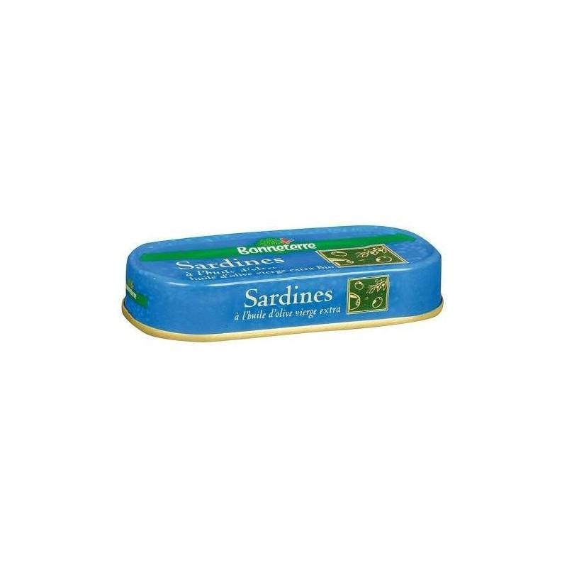SARDINES HUILE OLIVE 69G | BONNETERRE - POISSONS