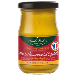 MOUTARDE AUX PIMENTS ESPELETTE 200G