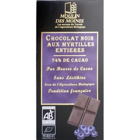 CHOCOLAT NOIR AUX MYRTILLES 100 GR