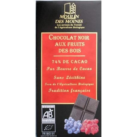 CHOCOLAT FRUITS BOIS 100G
