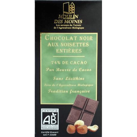 CHOCOLAT NOIR NOISET ENT 100G