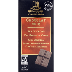 CHOCOLAT NOIR 74% 100G