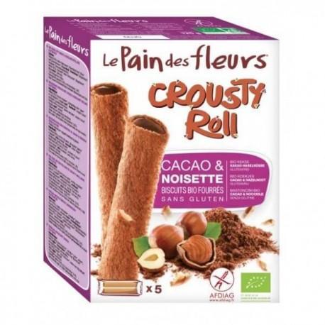 CROUSTY ROLL CHOCOLAT ET NOISETTE 125G