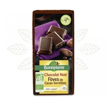 CHOCOLAT NOIR ECLATS DE FEVES 100G