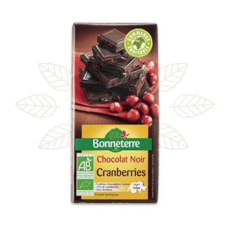 CHOCOLAT NOIR CRANBERRIES 100G