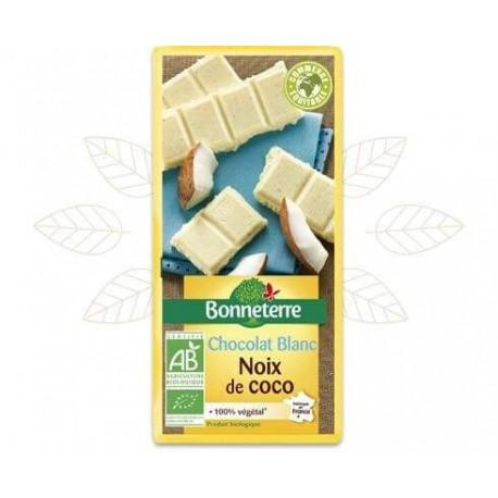 CHOCOLAT BLANC NOIX DE COCO 100G