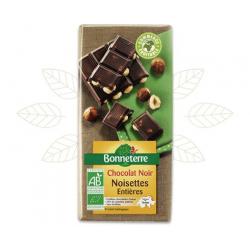 CHOCOLAT NOIR NOISETTES ENTIERES 200G