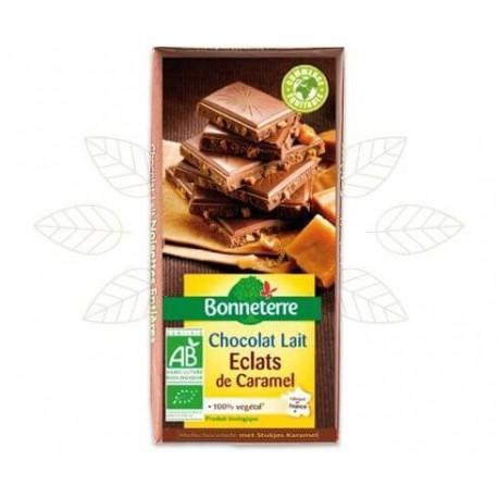 CHOCOLAT LAIT ECLATS DE CARAMEL 100G CC