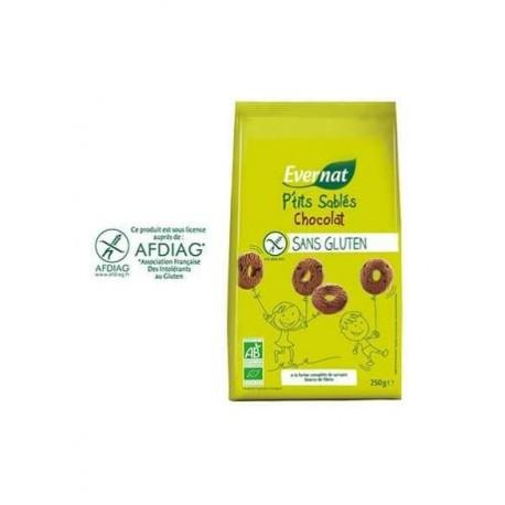 BISCUITS SS GLUTEN CACAO 250G