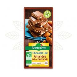 CHOCOLAT LAIT AMANDES SEL DE GUERANDE 10
