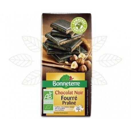 CHOCOLAT NOIR FOURRE PRALINE 100G