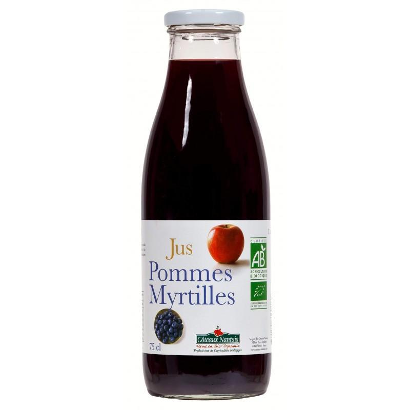 JUS POMMES/MYRTILLES 75CL