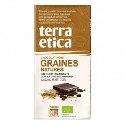 TABLETTE CHOCOLAT NOIR GRAINES NATURE100G