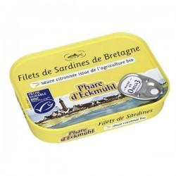 FILETS DE SARDINES CITRONS 90G