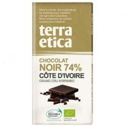 TABLETTE CHOCOLAT NOIR COTE IVOIRE 100G