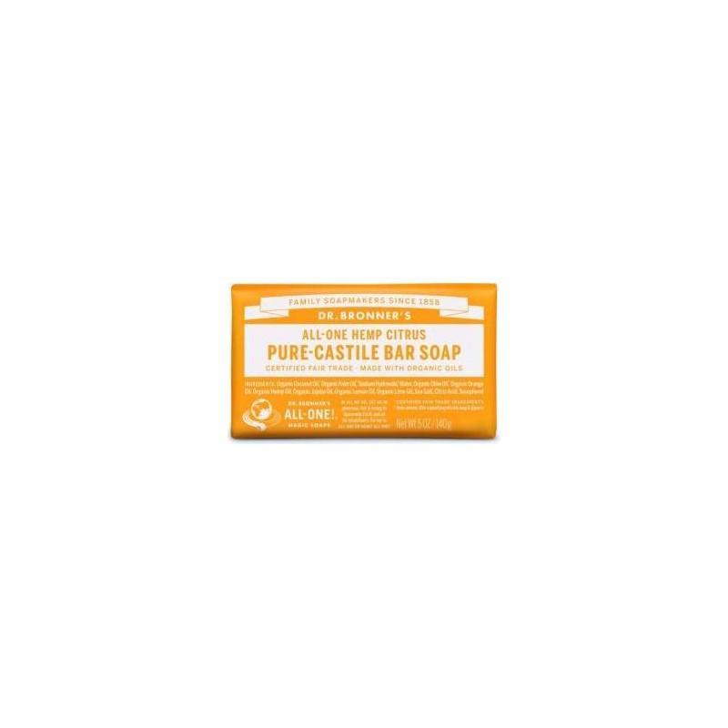 SAVON CASTILLE AGRUMES ORANGE BRONNERS 140GR | DR BRONNERS - SAVONS