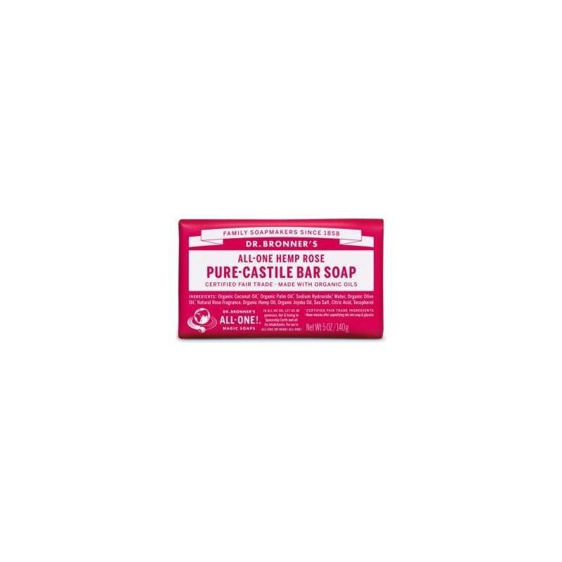 SAVON CASTILLE ROSE BRONNERS 140GR | DR BRONNERS - SAVONS