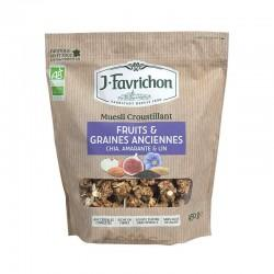 MUESLI CROUSTILLANT FRUITS ET GRAINES 450G