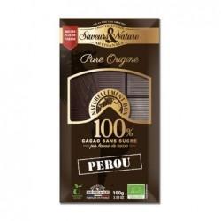TABLETTE 100% CACAO SANS SUCRE 100G