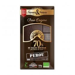 TABLETTE DE CHOCOLAT NOIR 70% DE CACAO P