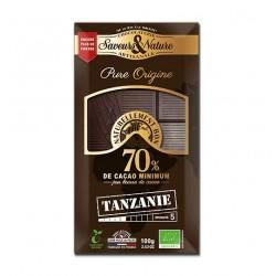TABLETTE DE CHOCOLAT NOIR 70% DE CACAO T