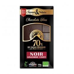 TABLETTE DE CHOCOLAT NOIR 70% DE CACAO G