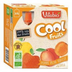 COOL FRUITS POMME PECHE ABRICOT + ACEROLA 4X90G