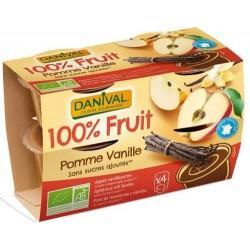 DESSERT DE FRUITS POMME VANILLE 4X100G