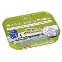 FILETS DE SARDINE A L'HUILE D'OLIVE 100G
