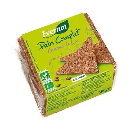PAIN COMPLET GRAINES DE LIN 500G