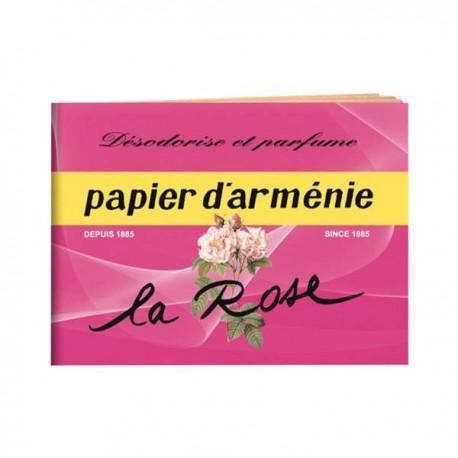 PAPIER D ARMENIE A LA ROSE